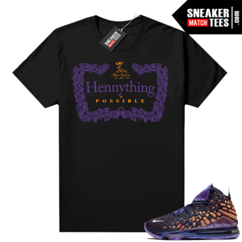 Lebron 17 Monstars shirt black Hennything