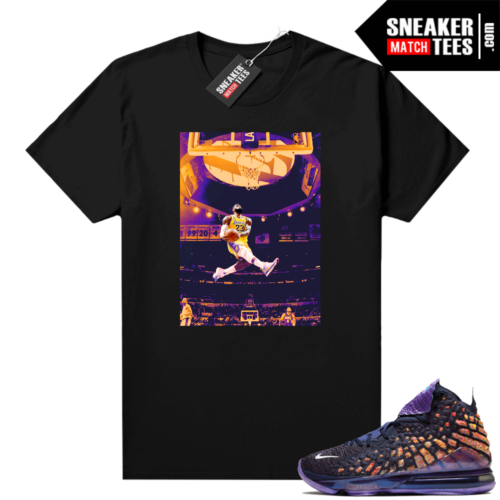 Lebron 17 Monstars shirt black Lebron Kobe Dunk