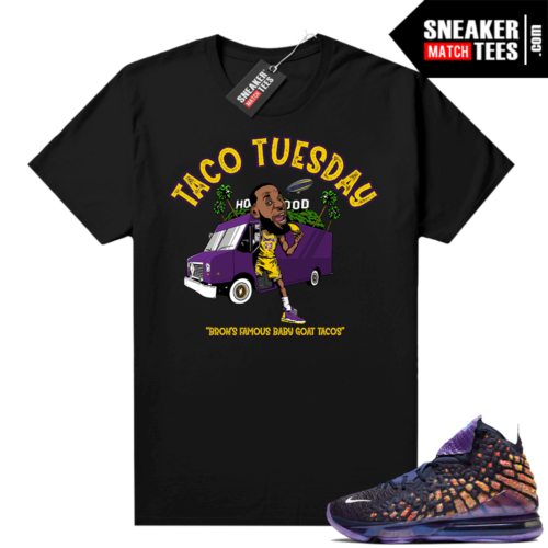 Lebron 17 Monstars shirt black Lebron Taco Tuesday