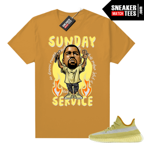Marsh Yeezy 350 shirt Mustard Orange Sunday Service Ye Toon