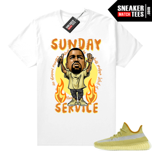 Marsh Yeezy 350 shirt White Sunday Service Ye Toon