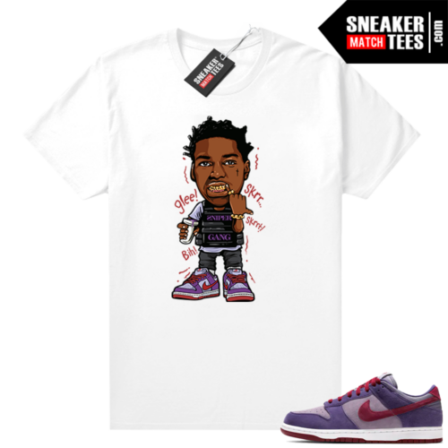 Nike Dunk Low Plum shirt Kodak Glee