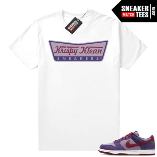 Nike Dunk Low Plum shirt Krispy Klean Sneakers