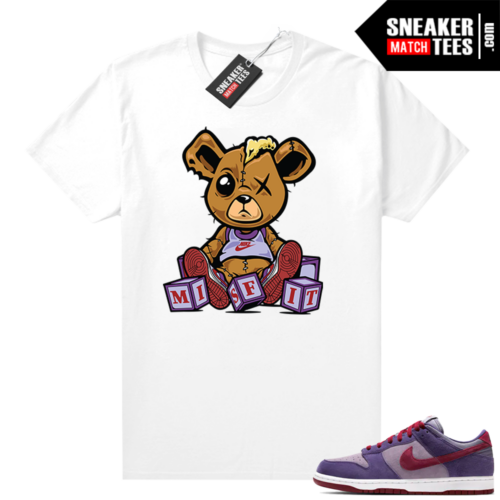 Nike Dunk Low Plum shirt Misfit Teddy