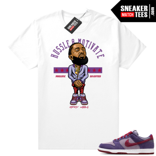 Nike Dunk Low Plum shirt Nipsey Hussle Motivate