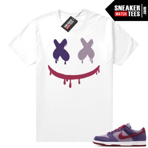 Nike Dunk Low Plum shirt Smiley Drip