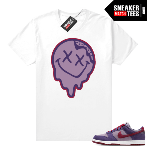 Nike Dunk Low Plum shirt Smiley Slime