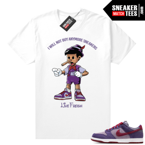 Nike Dunk Low Plum shirt Sneaker head Pinocchio