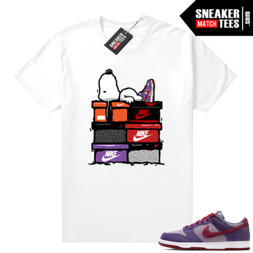 Nike Dunk Low Plum shirt Sneaker head Snoopy