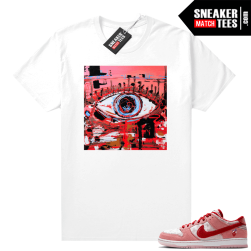 Nike SB Dunk Low StrangeLove shirt Abstract Eye Painting