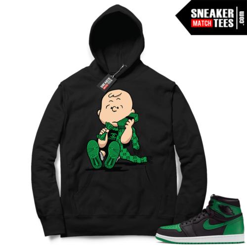 Pine Green 1s Hoodie Black Designer Charlie