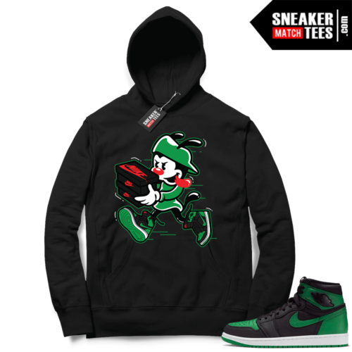 Pine Green 1s Hoodie Black Double Up