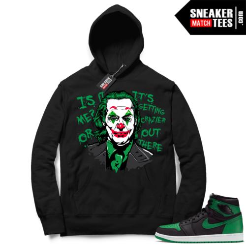 Pine Green 1s Hoodie Black Joker