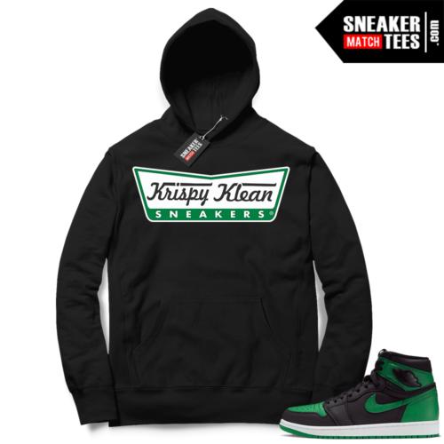 Pine Green 1s Hoodie Black Krispy Klean Sneakers
