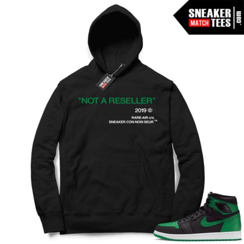 Pine Green 1s Hoodie Black Not A Reseller