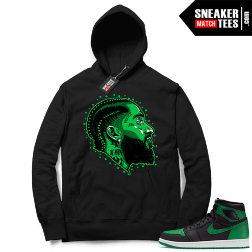 Pine Green 1s Hoodie Black Prolific