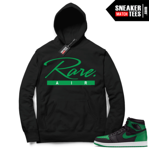 Pine Green 1s Hoodie Black Rare Air Script