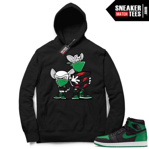 Pine Green 1s Hoodie Black Sneaker Heist