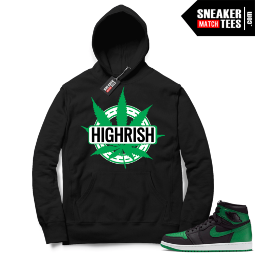 Pine Green 1s Hoodie Black St Pattys Day Highrish