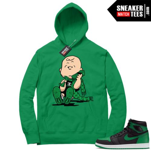 Pine Green 1s Hoodie Designer Charlie