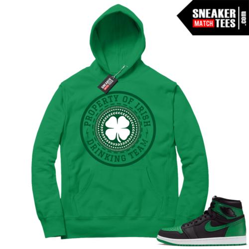 Pine Green 1s Hoodie Green Irish Drink Team