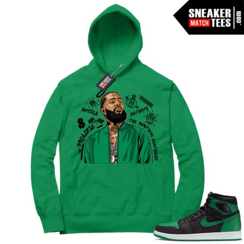Pine Green 1s Hoodie Green Nipsey Tribute