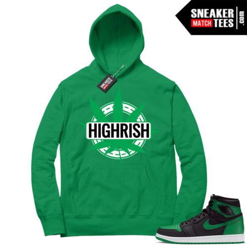 Pine Green 1s Hoodie Green St Pattys Day Highrish