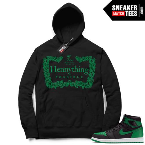 Pine Green 1s Hoodie Hennything