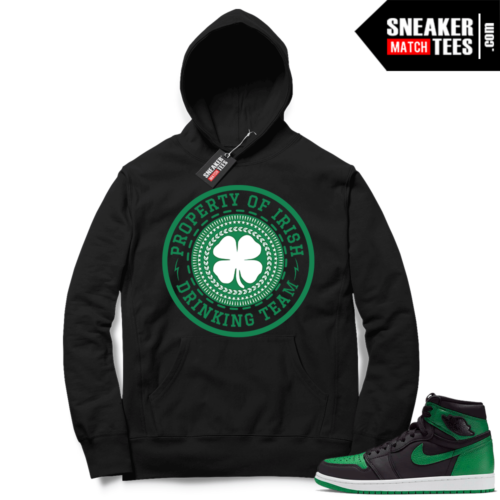 Pine Green 1s Hoodie Irish Drink Team