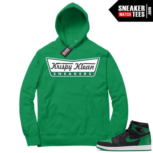 Pine Green 1s Hoodie Krispy Klean Sneakers