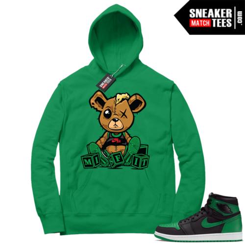 Pine Green 1s Hoodie Misfit Teddy
