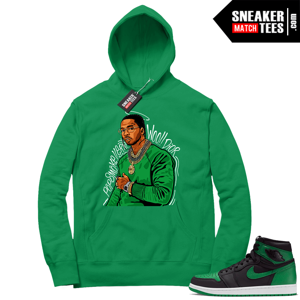 Pine Green 1s Hoodie Pop Smoke Tribute