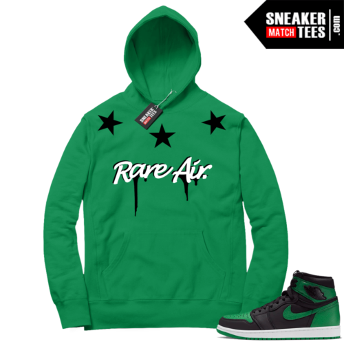Pine Green 1s Hoodie Rare Air Stars
