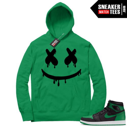 Pine Green 1s Hoodie Smiley Drip