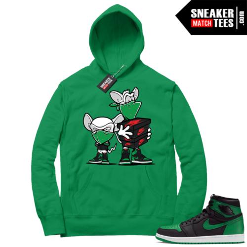 Pine Green 1s Hoodie Sneaker Heist