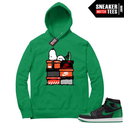 Pine Green 1s Hoodie Sneakerhead Snoopy