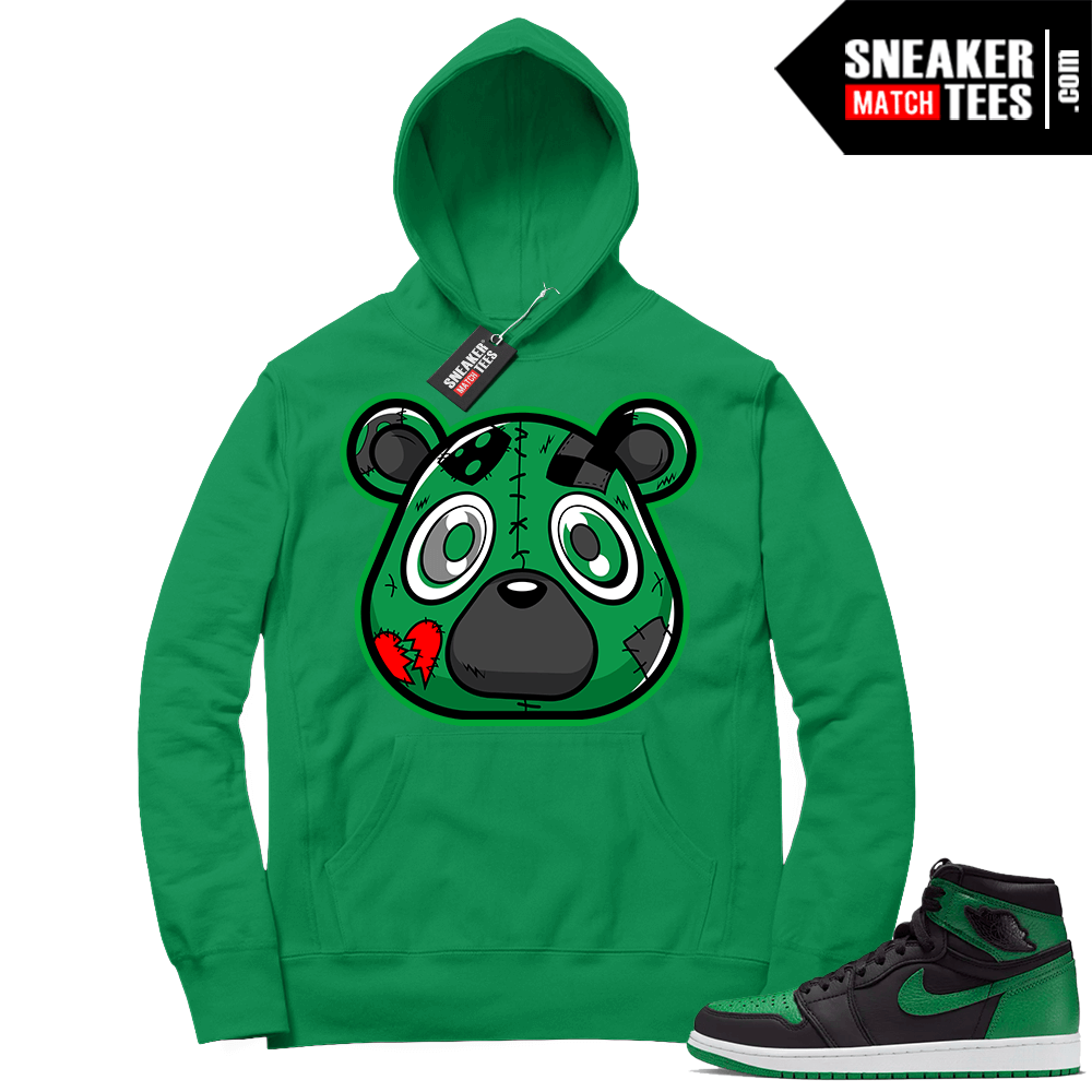 Pine Green 1s Hoodie Young Heartless Bear