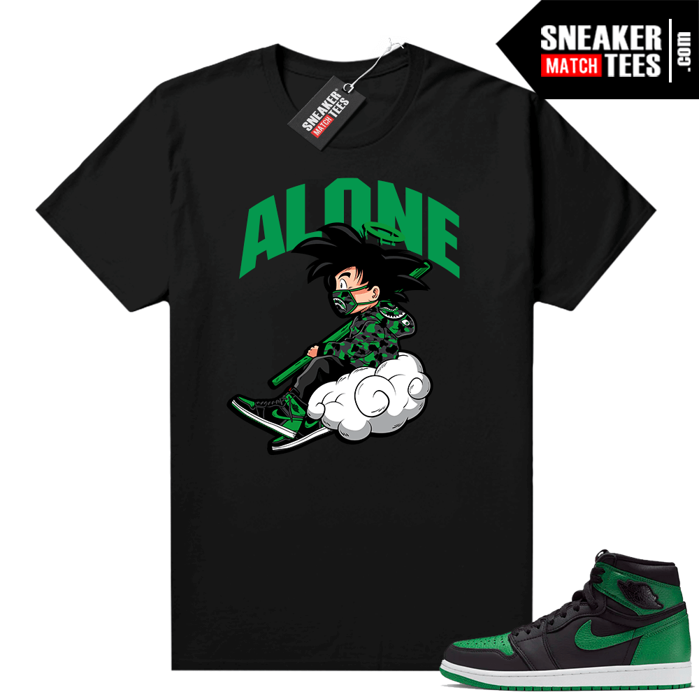 Pine Green 1s shirt Black Alone