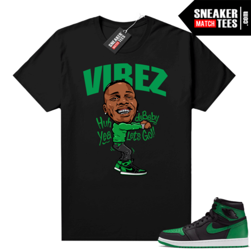 Pine Green 1s shirt Black Dababy Vibez