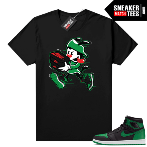 Pine Green 1s shirt Black Double Up