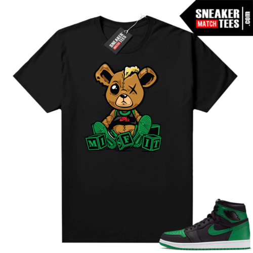 Pine Green 1s shirt Black Misfit Teddy