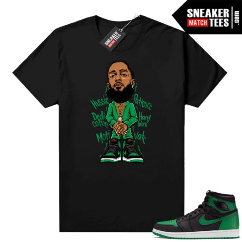 Pine Green 1s shirt Black Nipsey Hussle