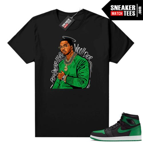 Pine Green 1s shirt Black Pop Smoke Tribute