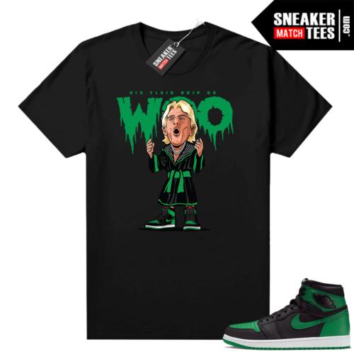 Pine Green 1s shirt Black Ric Flair Drip