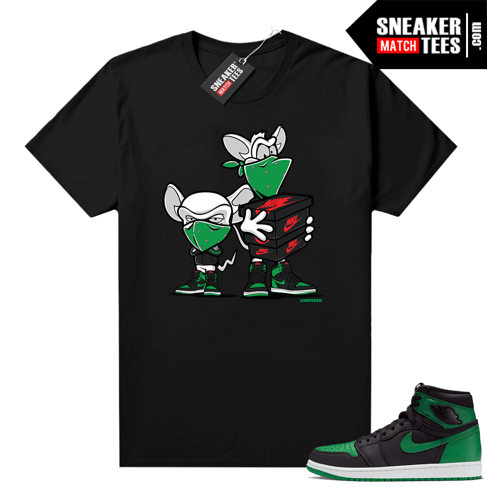 Pine Green 1s shirt Black Sneaker Heist