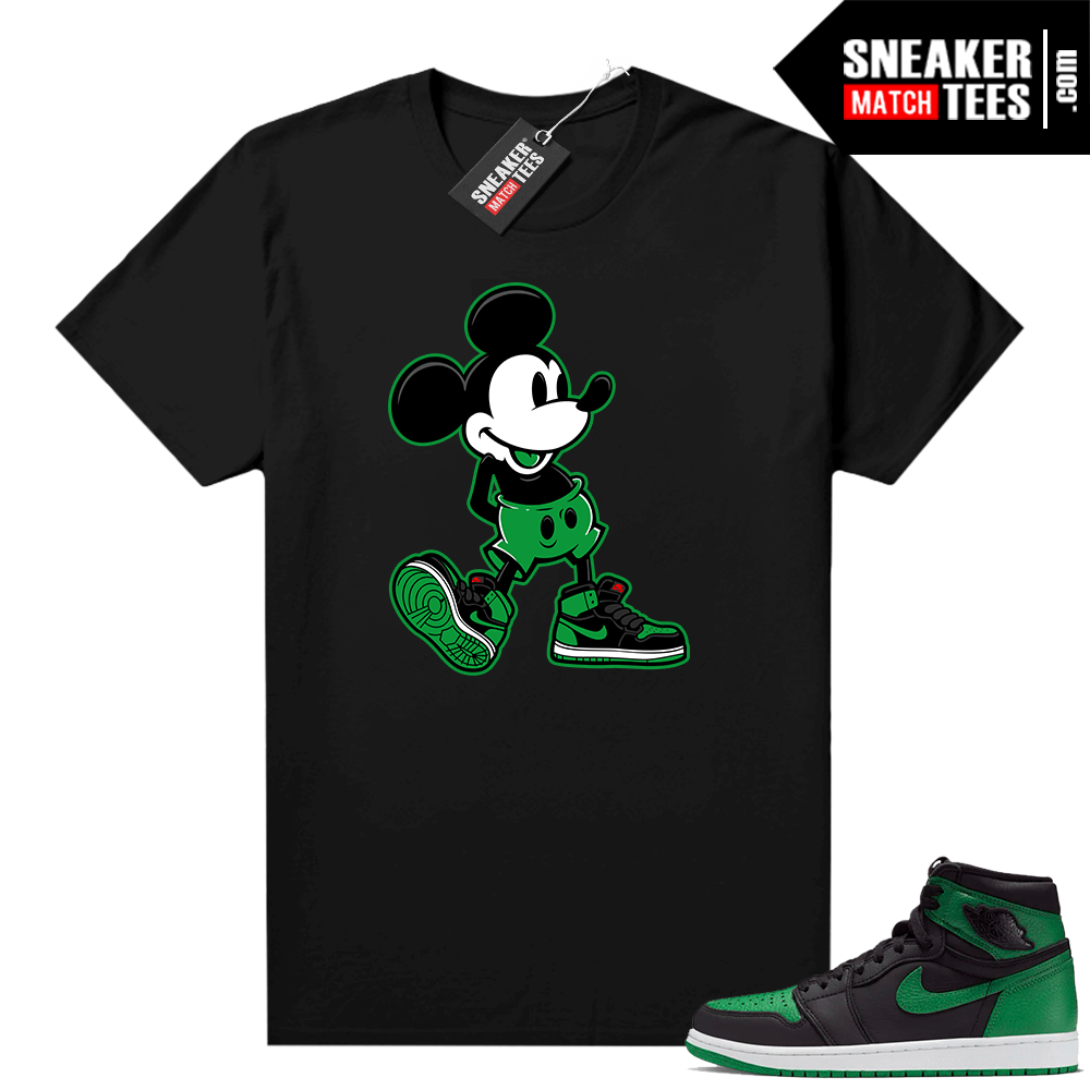 Pine Green 1s shirt Black Sneakerhead Mickey