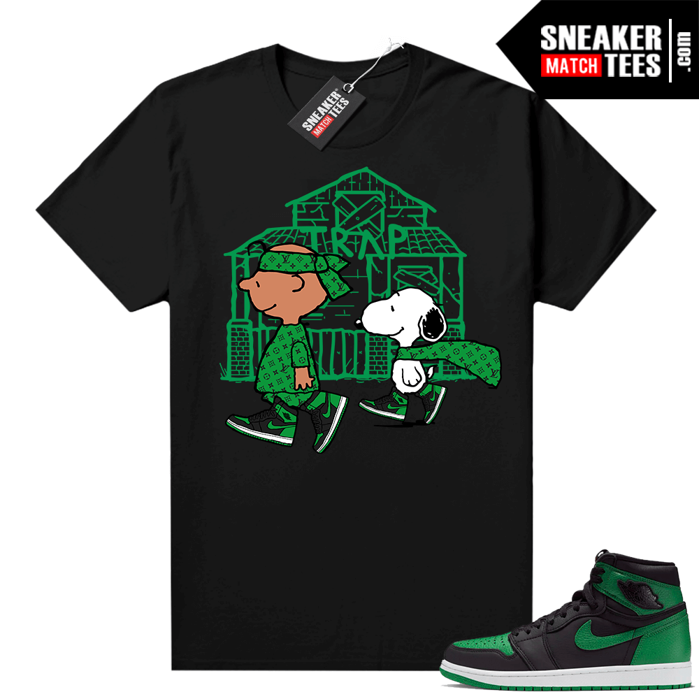 Pine Green 1s shirt Black Snoopy Traphouse