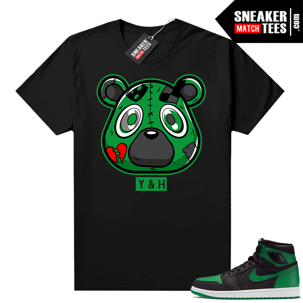 Pine Green 1s shirt Black Young and Heartless Bear