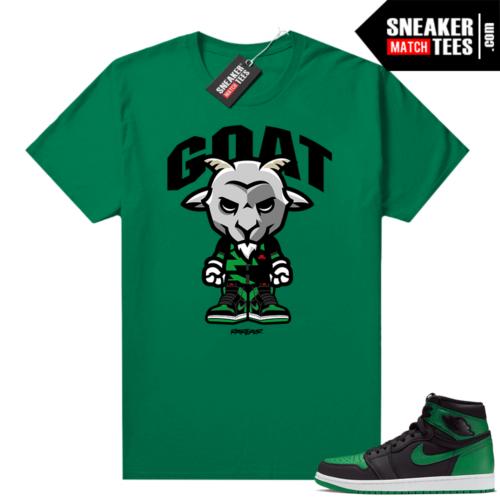 Pine Green 1s shirt Goat Toon