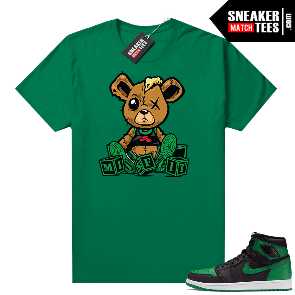 Pine Green 1s shirt Misfit Teddy
